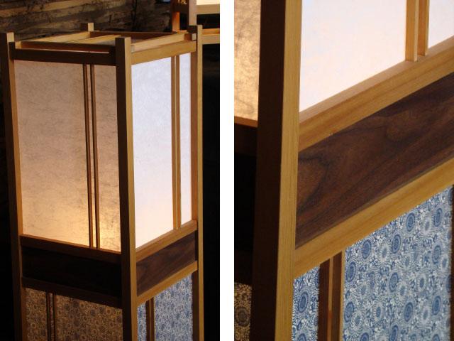 andon die japanische lampe aus holz und reispapier. Black Bedroom Furniture Sets. Home Design Ideas