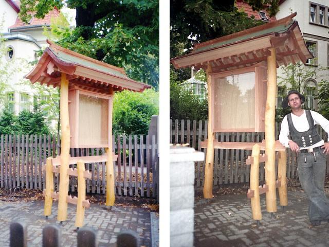 gartenelemente pavillions carports hannes schnelle japanische m bel und objekte. Black Bedroom Furniture Sets. Home Design Ideas